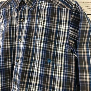Ariat Shirts - Ariat pro series plaid button up shirt long sleeve
